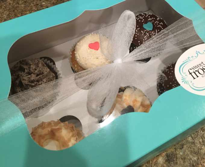 box of cupcakes from Sweet Frostings