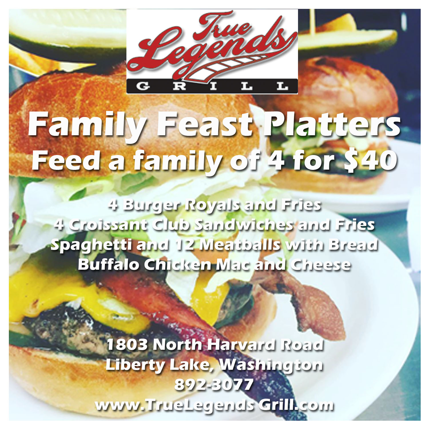 True Legends Grill Family Feast Platter