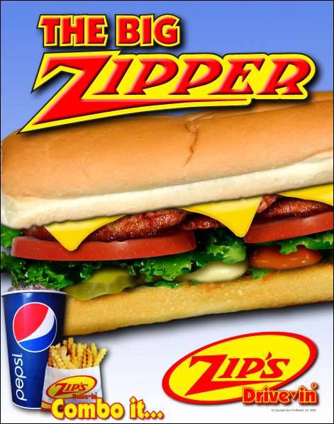 burger from Zips