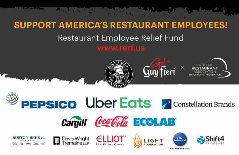 media kit graphic for Restaurant Employee Relief Fund